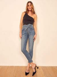 Reformation Yasmin Jean in Inari | belted paperbag waist jeans