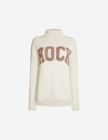 ZADIG&VOLTAIRE Rock-print knitted jumper | neutral roll neck jumpers
