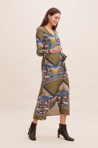 Anthropologie x JRF Mixed-Print Shirtdress