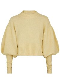 BAUM UND PFERDGARTEN Coline yellow knitted jumper – balloon sleeved sweater