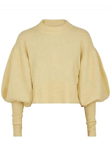 BAUM UND PFERDGARTEN Coline yellow knitted jumper – balloon sleeved sweater