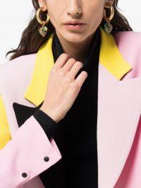 Brinker & Eliza Gold Tone Lolita Flower Heart Hoop Earrings