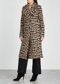 BY MALENE BIRGER Belloa cheetah-print wool-blend coat / modern day glamour