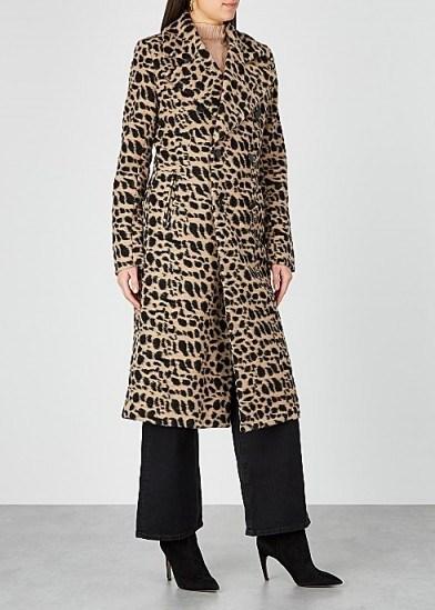BY MALENE BIRGER Belloa cheetah-print wool-blend coat / modern day glamour - flipped