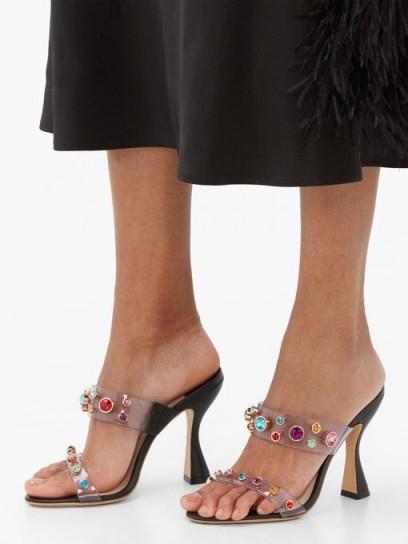SOPHIA WEBSTER Dina gem-embellished mules in black