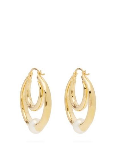 SOPHIE BUHAI Double-hoop gold-vermeil and faux-pearl earrings – luxe hoops