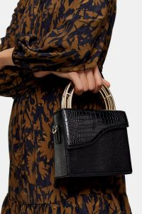 Topshop DRIFT Black Handle Grab Bag – chic handbags