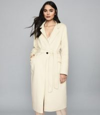 Reiss ELLIE LONGLINE OVERCOAT CREAM – luxe style coats