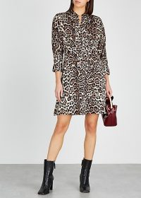 EQUIPMENT Adalicia leopard-print satin mini dress
