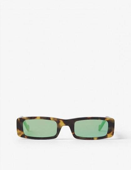 FENTY Trouble rectangle sunglasses in tortoise shell - flipped