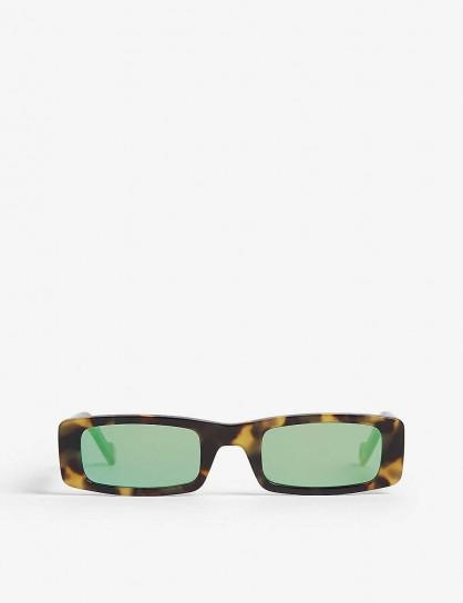 FENTY Trouble rectangle sunglasses in tortoise shell