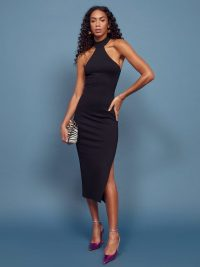REFORMATION Gable Dress in Black ~ lbd ~ evening glamour
