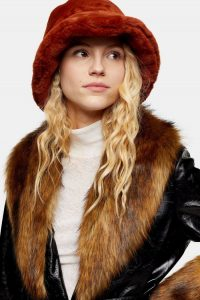 TOPSHOP Ginger Faux Fur Bucket Hat / furry winter hats