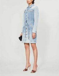 GIVENCHY Belted ripped denim mini dress | keep it chic and casual