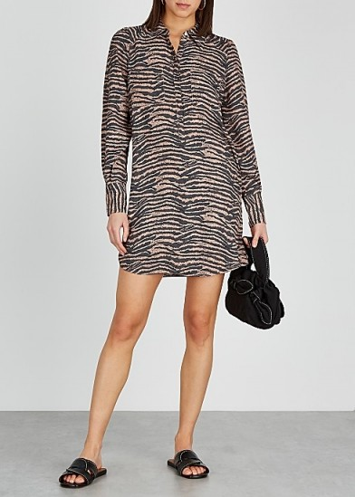 JOIE Talma tiger-print chiffon shirt dress