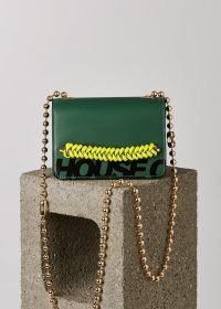 HOUSE OF HOLLAND 'MARGO' XBODY BAG (KHAKI) – green crossbody bags