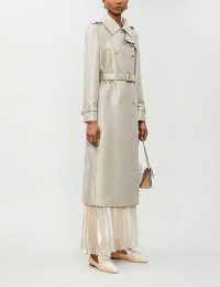 MAX MARA Belted double-breasted metallic-wool coat in albino oro / luxe coats