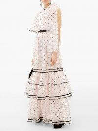 ERDEM Natalina one-shoulder polka-dot gown in pink / romantic occasion gowns