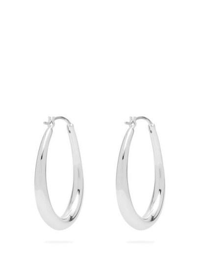 SOPHIE BUHAI Oval-hoop sterling-silver earrings ~ essential hoops - flipped