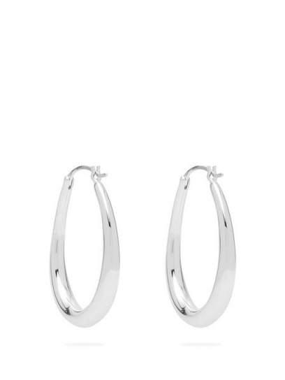 SOPHIE BUHAI Oval-hoop sterling-silver earrings ~ essential hoops