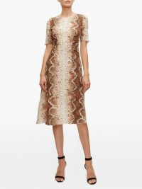 ALTUZARRA Silvia snake-print dress in beige