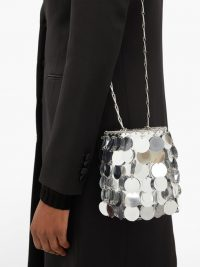 PACO RABANNE Sparkle 1966 small sequinned shoulder bag in silver / metallic luxe bags