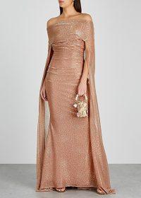 TALBOT RUNHOF Bortolo blush metallic gown / red carpet style gowns