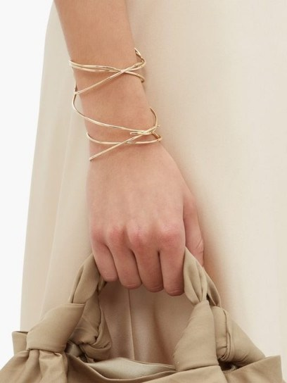 COMPLETEDWORKS The Meditations of a Fisherman gold-vermeil cuff – delicate twisted cuffs - flipped