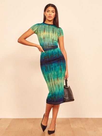 REFORMATION Zander Skirt in Formosa - flipped
