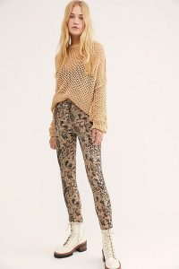 We The Free Raw High Rise Printed Jeggings in Two Faced Snakeskin – denim skinnies