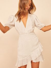 Reformation Alcott Dress in Vanilla | puffed sleeve dresses