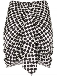 ALEXANDRE VAUTHIER ruffled polka-dot mini skirt – ruffle front skirts