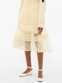 MOLLY GODDARD Alva ruffle-trim sheer tulle skirt ~ see-through clothing