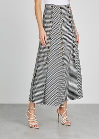 A.W.A.K.E MODE Monochrome gingham twill skirt