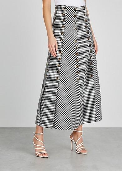 A.W.A.K.E MODE Monochrome gingham twill skirt
