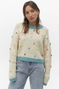 Kimchi Blue Candy Pop Jumper | textured bobble sweater