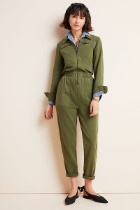 BLANKNYC Victor Twill Utility Jumpsuit in Moss | casual green jumpsuits