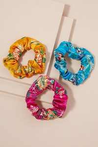 Anthropologie Pack of 3 Aja Scrunchies | bright scrunchie hair ties