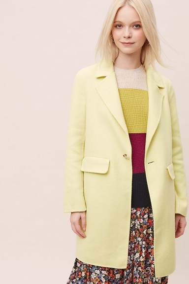 Rino & Pelle Coat in Yellow | spring coats / colours - flipped