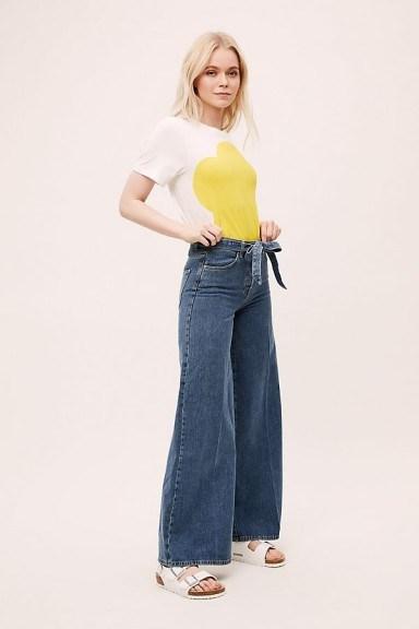 Selected Femme Laura High-Rise Wide-Leg Jeans DENIM MEDIUM BLUE - flipped