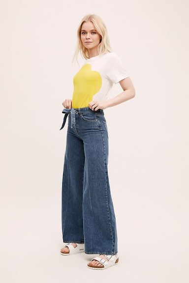 Selected Femme Laura High-Rise Wide-Leg Jeans DENIM MEDIUM BLUE