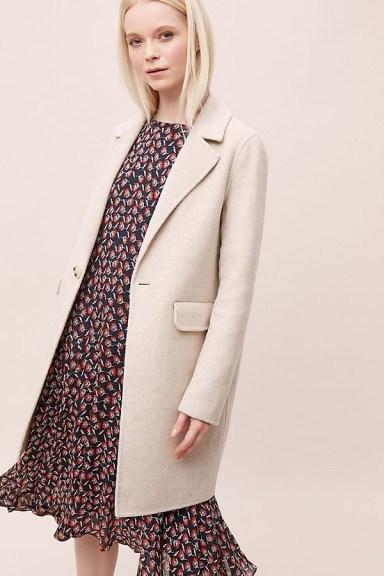 Rino & Pelle Amma Coat in Sand | neutrals | neutral coats - flipped