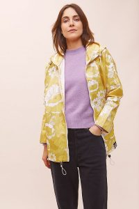 Insane in the Rain Woodstock Rain Coat in Yellow | floral raincoats 2020