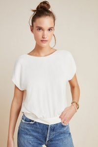 Anthropologie Evanna Blouse in White | V-back top
