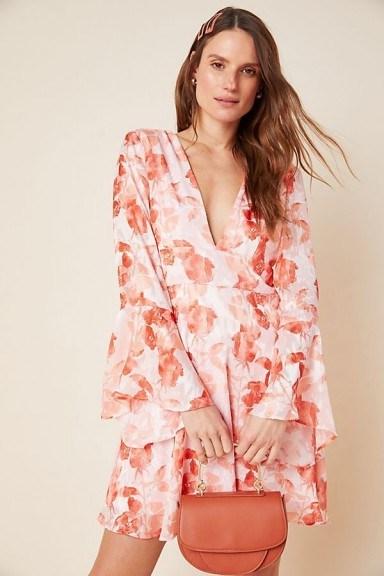Hutch Amora Burnout Mini Dress Pink Combo - flipped