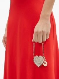 ROSANTICA Baby Heart mini crystal-embellished bag in gold
