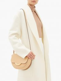 WANDLER Billy small leather shoulder bag in beige ~ luxury flap bags