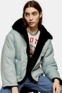 TOPSHOP Blue Reversible Jacket