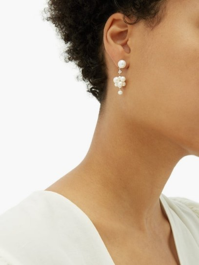 SOPHIE BILLE BRAHE Botticelli diamond, pearl & gold earrings – freshwater pearls & diamonds