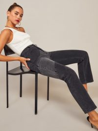 Reformation Bowie Jean in Monterey | panel detail jeans